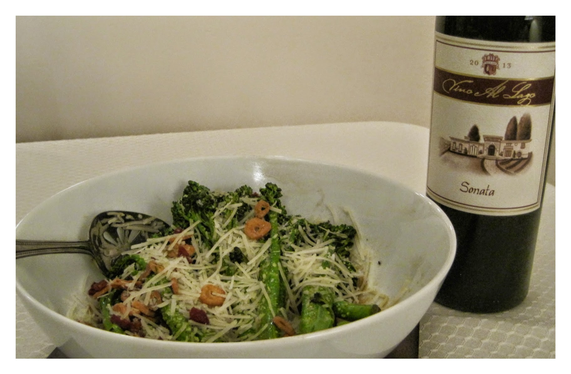 Broccolini with Garlic Chips recipe image