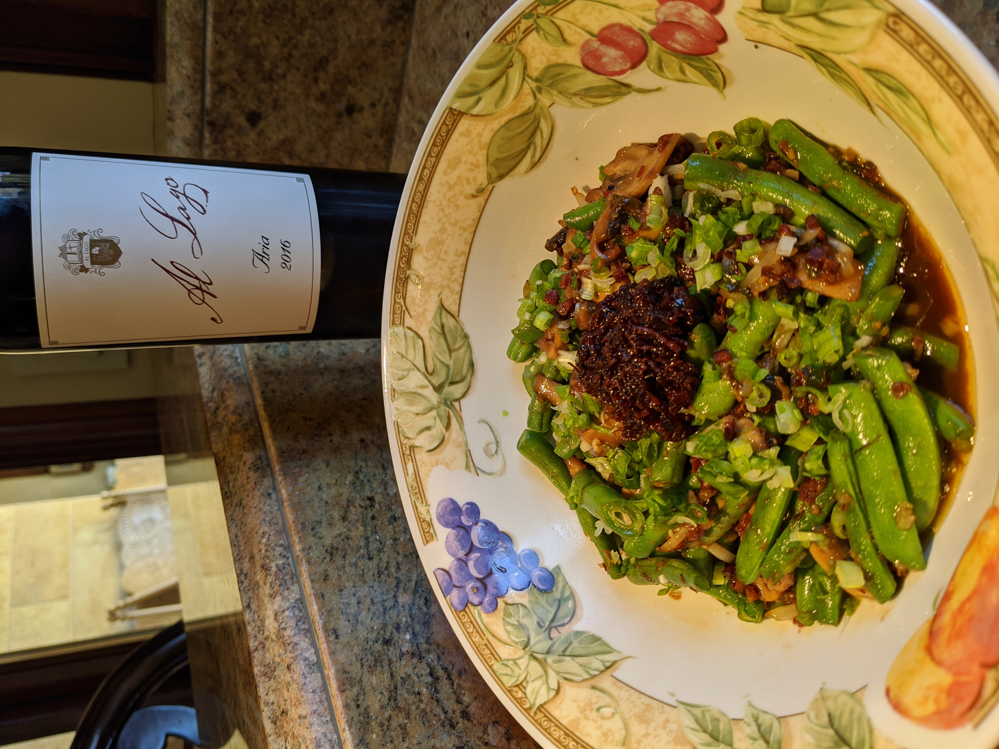 green beans with chinese sausage and xo sauce recipe image